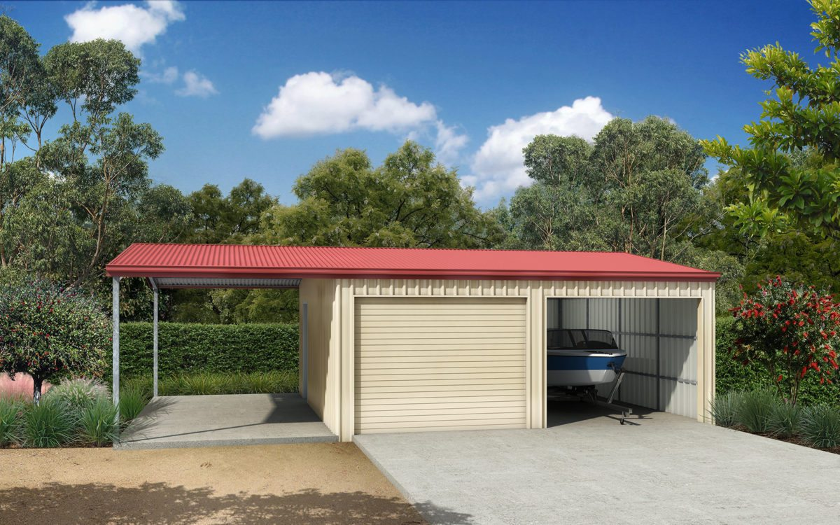 Double garage with roof extension